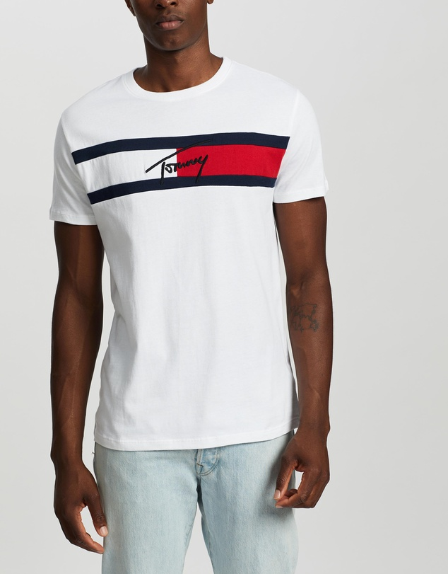 Tommy Jeans - Jacquard Flag Tee