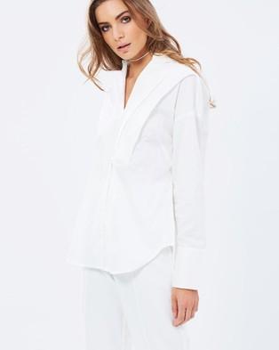 Friend of Audrey – Oversized Boyfriend Panel Shirt White