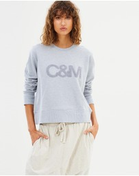 C & M Camilla and Marc - Owens Logo Crew-Neck Sweater