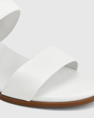 Wittner Karlie Leather Block Heel Sandals - Sandals (White)