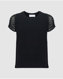 Decjuba Kids - Molly Mesh Sleeve Tee - Teens