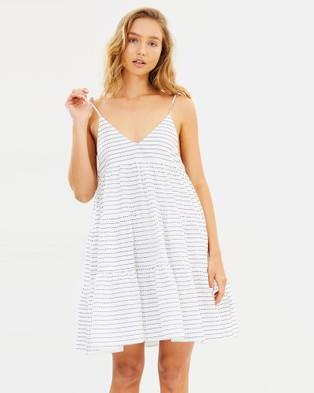 IMONNI – Iman Cotton Dress – Printed Dresses Ivory Black Star