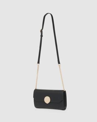 Forever New Demi Circle Lock Crossbody - Bags (Black)