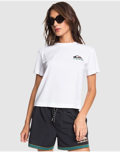 Quiksilver Womens Original Heritage Cropped T-shirt White