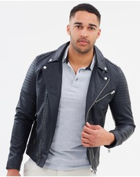 Jack & Jones - Leather Biker Jacket