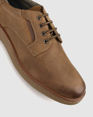 Airflex Odin Leather Lace Up Shoes - Casual Shoes (Tan)