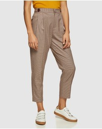 Oxford - Lara Eco Checked Trousers