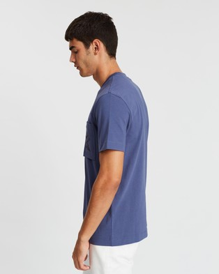 CERRUTI 1881 CHEST POCKET RELAXED FIT T SHIRT - T-Shirts & Singlets (Marine)