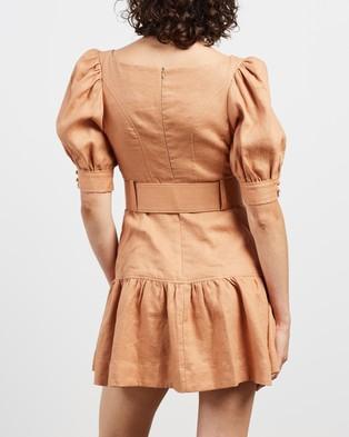 Shona Joy Rosa Puff Sleeve Mini Belt Dress - Dresses (Desert Rose)