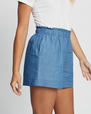 Atmos&Here Alessia Chambray Shorts - Shorts (Chambray)