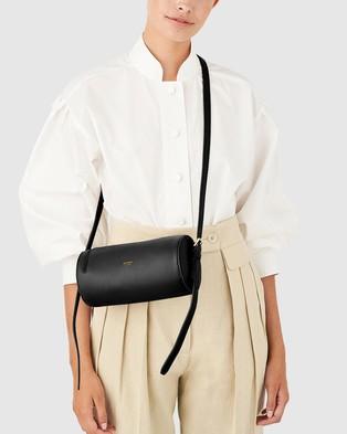 Oroton - Margot Drum Bag - Bags (Black) Margot Drum Bag