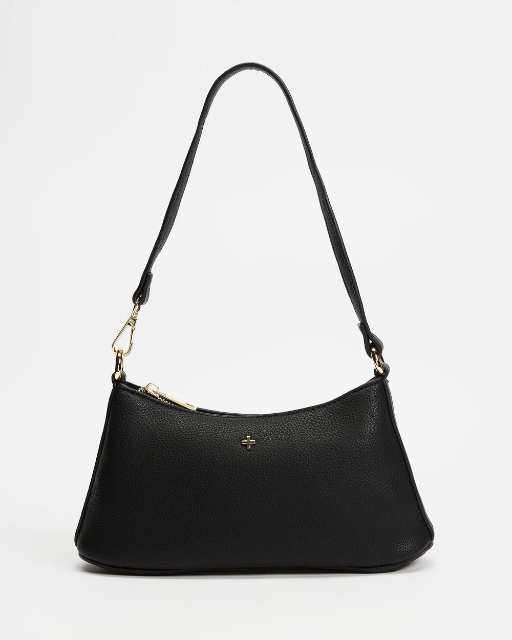PETA AND JAIN Danni Shoulder Bag Handbags Black Pebble