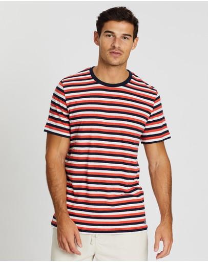 Academy Brand Foss Tee Navy & Orange