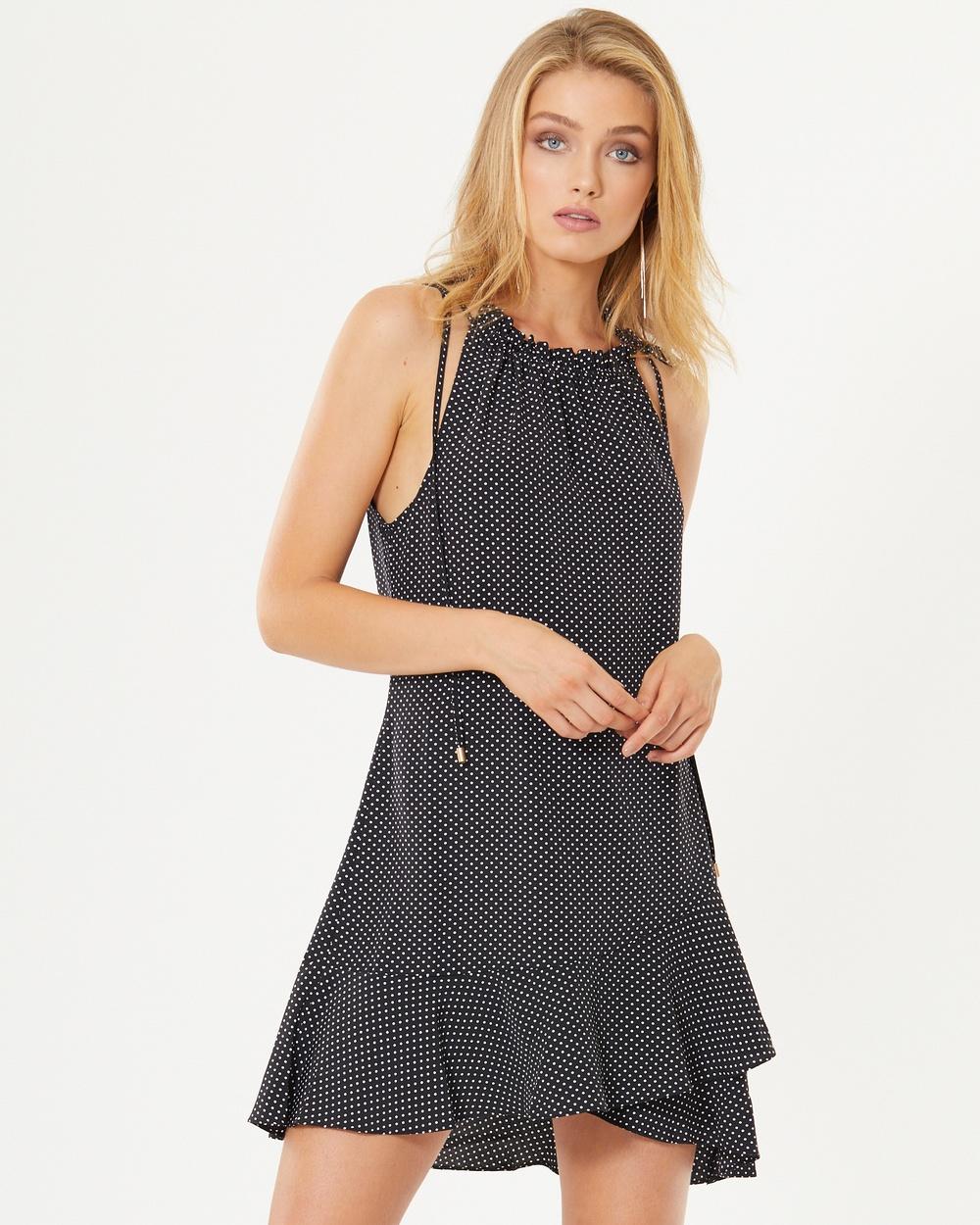 Tussah Francisco Swing Dress Dresses Black Polka Dots Francisco Swing Dress