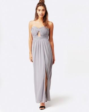 Little Mistress – Cut Out Bandeau Maxi Dress – Dresses (Grey)