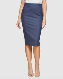 Oxford - Peggy Wool Stretch Suit Skirt