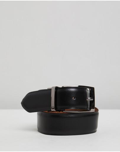 Double Oak Mills Reversible Leather Belt Black & Tan