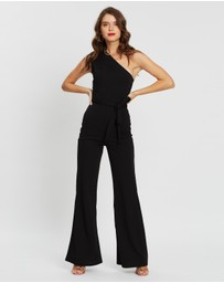 Missguided Petite - One Shoulder Wide Leg Jumpsuit