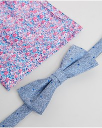 Jeff Banks - Bow Tie & Pocket Square Set