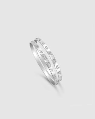 Ichu Kiss Hug Bangles - Jewellery (Silver)