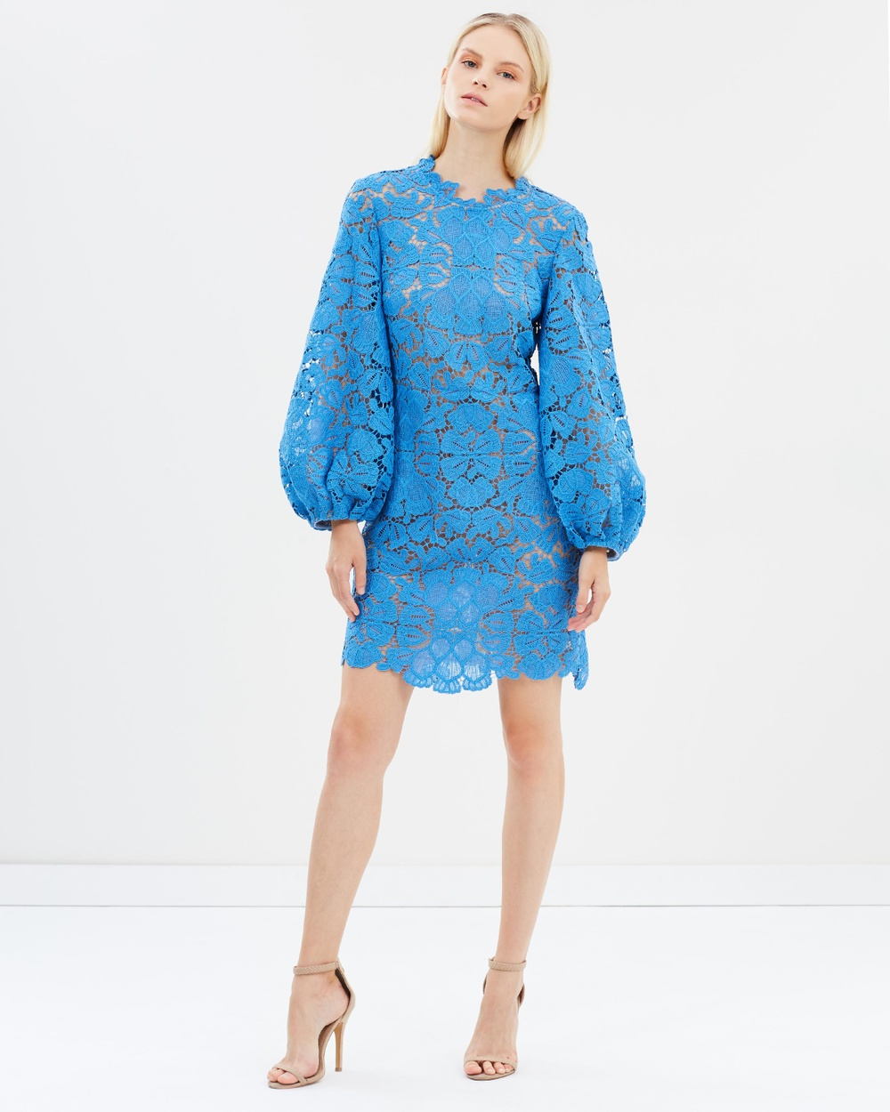 Ginger & Smart Mirage Dress with Sleeve Dresses Cyan Blue Mirage Dress with Sleeve