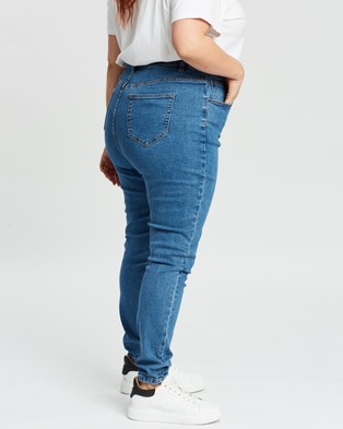 Atmos&Here Curvy London Skinny Jeans - High-Waisted (Mid Blue)