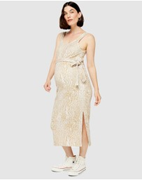 TOPSHOP Maternity - Animal Rib Column Dress