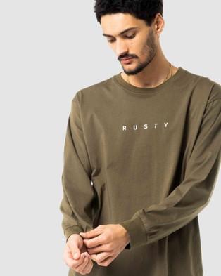 Rusty - Short Cut Long Sleeve Tee - Long Sleeve T-Shirts (GGN) Short Cut Long Sleeve Tee