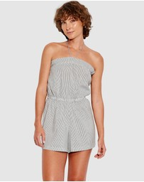Seafolly - Fine stripe Pull On Playsuit