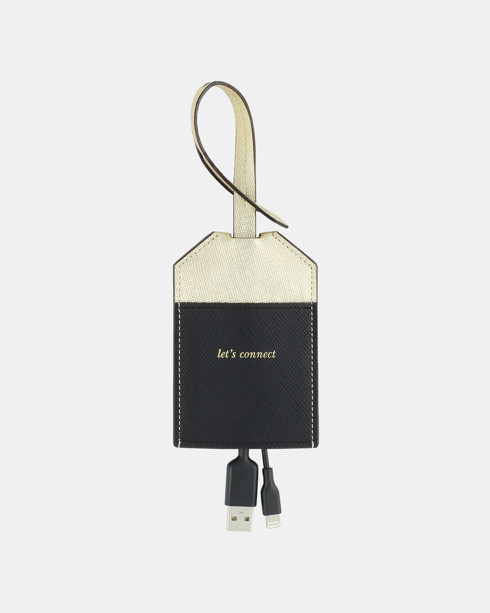 Kate Spade New York Portable Lightning Cable Tech Accessories Gold/Black Australia