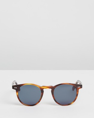 Pacifico Optical Buckler - Sunglasses (Burnt Oak with Blue Lens)