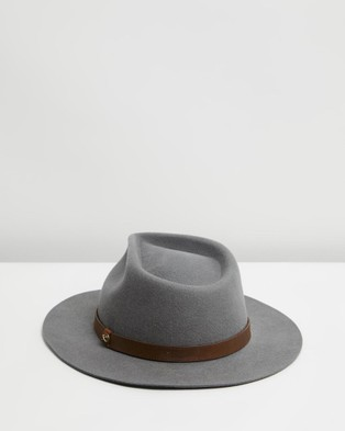 Billy Bones Club The Alpha Grey Fedora - Hats (Grey)