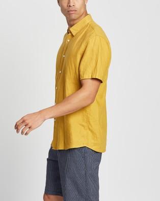 Marcs Felix SS Linen Shirt - Casual shirts (Saffron)