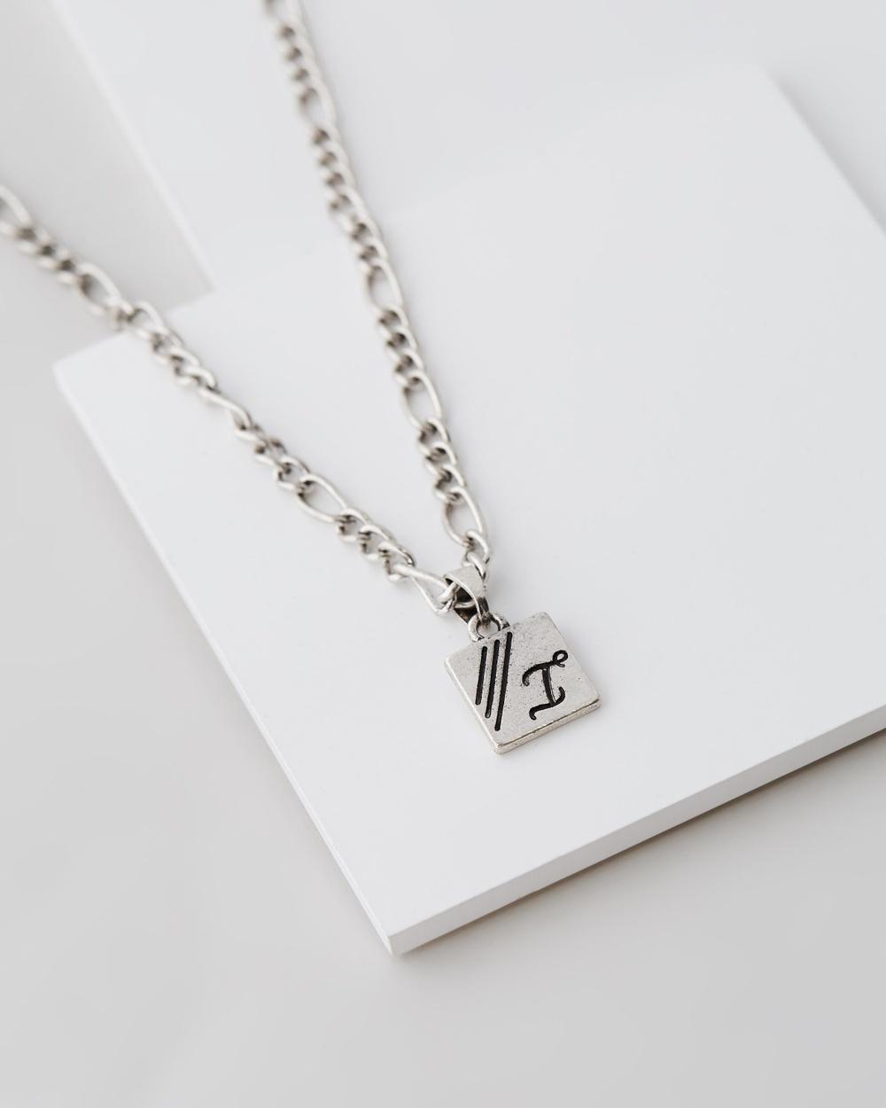 Icon Brand Figaro Chain Necklace Jewellery Silver