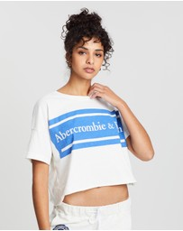 Abercrombie & Fitch - SS Drop Shoulder Logo Tee