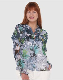 Faye Black Label - Alessia Frilled Up Shirt