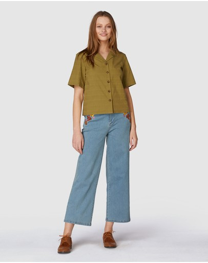 Princess Highway Jeans Blouse Olive