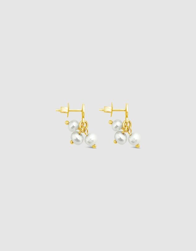 Women Trio Pearl Cluster Earrings