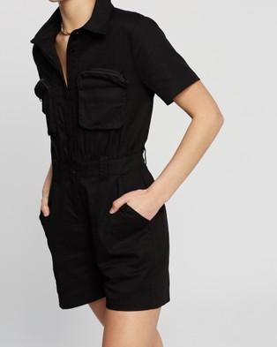 Nana Judy Karla Romper - Jumpsuits & Playsuits (Vintage Black)