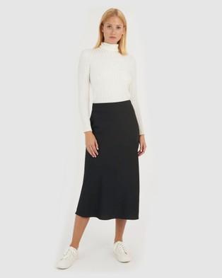 Forcast Dani Slip Skirt - Skirts (Black)