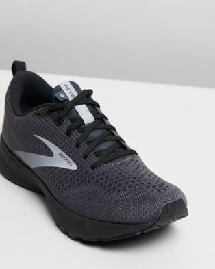 Brooks Revel 4   Men's - Outdoor Shoes (Ebony Black & Grey )