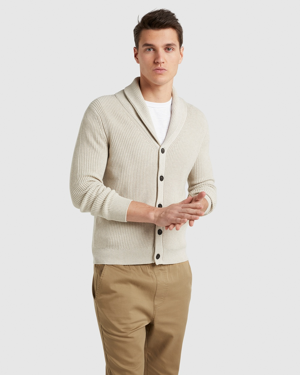 French Connection Shawl Collar Cardigan Jumpers & Cardigans OATMEAL MARLE Australia