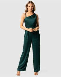 Forever New - Katerina Strappy Satin Jumpsuit