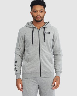 RVCA Sport - Swift Hoodie Patch - Jumpers & Cardigans (HEATHER GREY) Swift Hoodie Patch