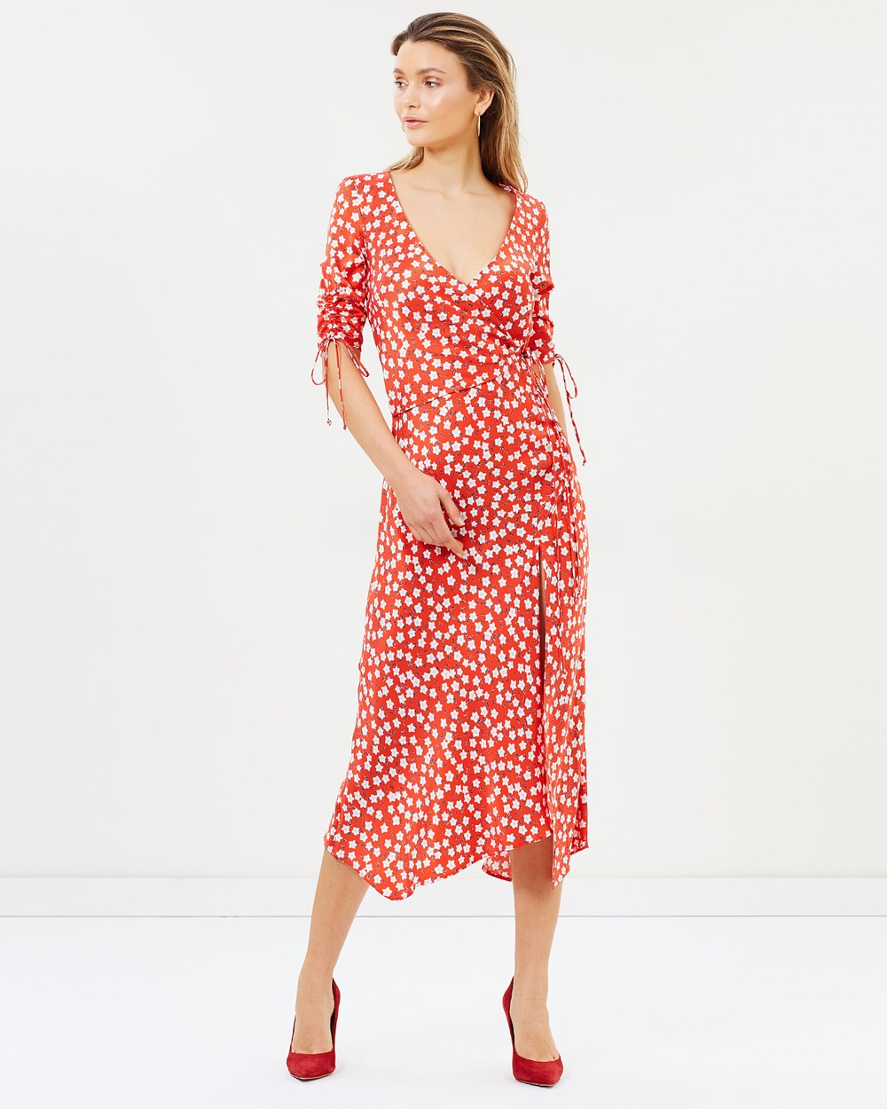 Bec & Bridge In Your Dreams Midi Dress Printed Dresses Print In Your Dreams Midi Dress
