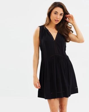 Seafolly – Ladder Detail Dress – Swimwear Black