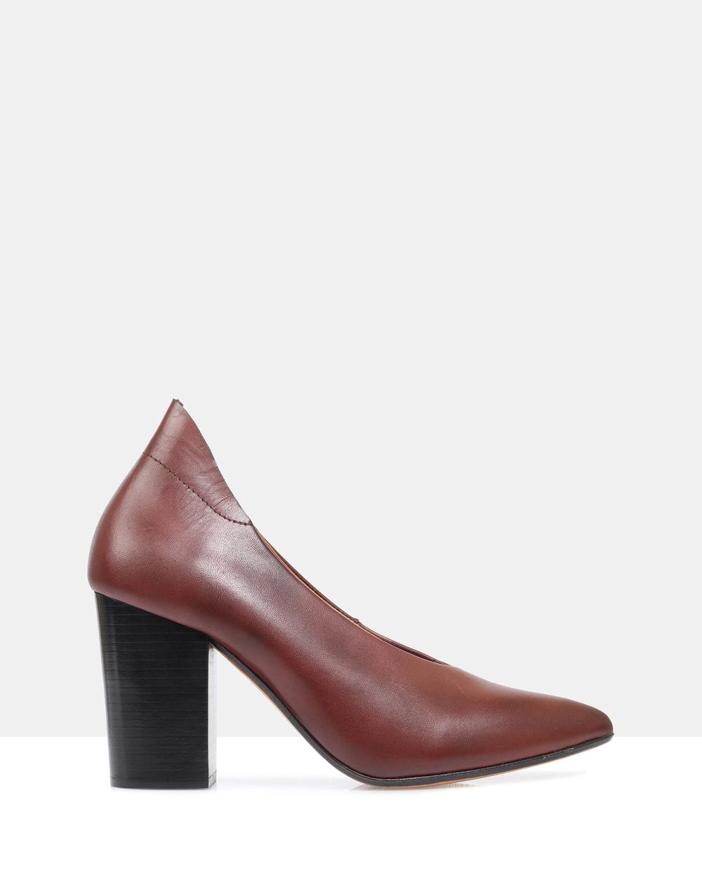 Sempre Di Paulette Heels All Pumps Bordeaux Paulette Heels