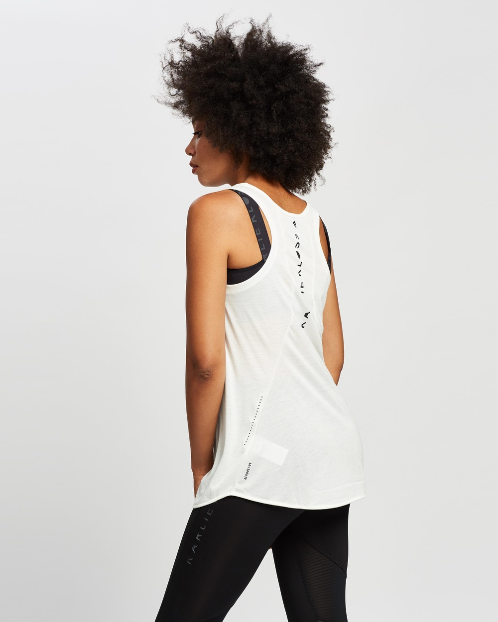 adidas Performance Karlie Kloss Long Tank Top Muscle Tops Off White