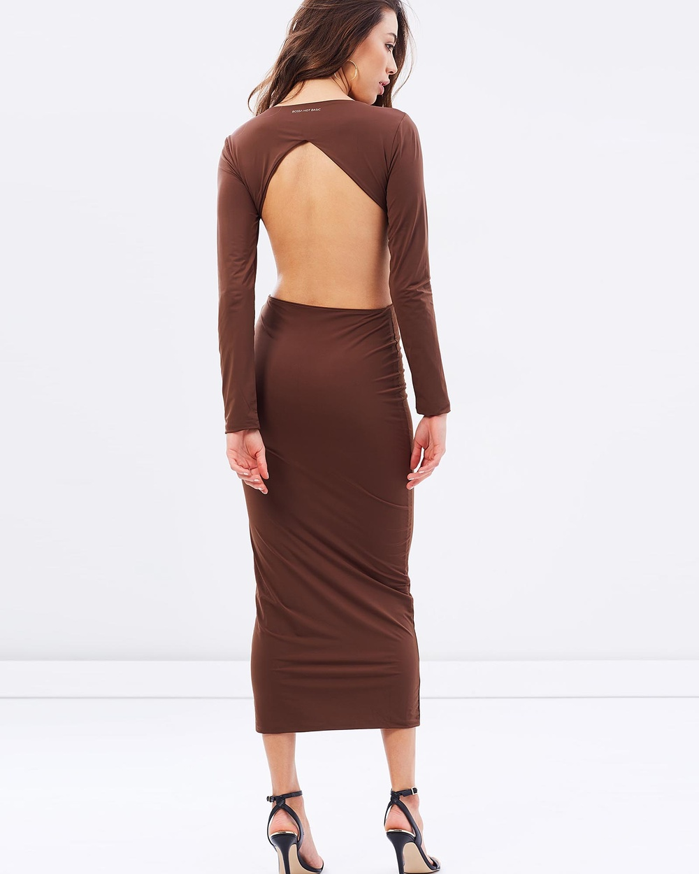 BSSA Undone Dress Bodycon Dresses Chocolate Undone Dress