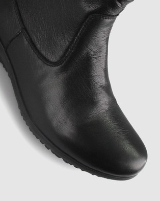 Airflex Cross Leather Ankle Boots - Boots (Black)